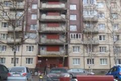 Окраска фасада переходных лоджий Кузнецова д 21
