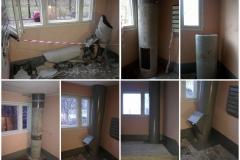 Восстановление ствола мусоропровода после вандализма Петергофское шоссе, дом1 ,кор1, 2 пар