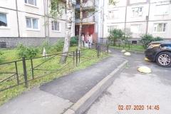 Частичный ремонт пешеходного тротуара Кузнецова д 21