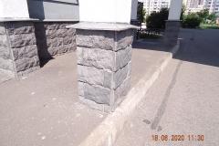 Ремонт цокольной плитки М Захарова д 18 к 1