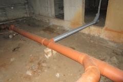 Чаастичная замена канализации по подвалу Котина д7 к1