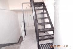 Замена лестницы на кровлю Маршала Захарова д60